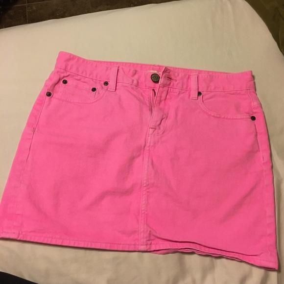 a444126e6a J. Crew Skirts | Hot Pink Jean Skirt From Jcrew | Poshmark